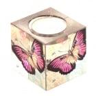 Свещник - куб с пеперуда