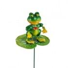 Декоативна фигурка със стик - жаба