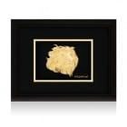 Златна репродукция - лъв s 24 карата златно покритие
