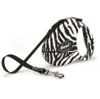 Автоматичен повод Fashion Ladies, зебра в бяло от flexi, Германия - 5м лента до 25кг