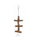 Естествена дървена играчка за птици - 40см.
