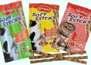 Sanal soft sticks - меки солети за коте в три различни вкуса - 3 бр.