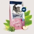 Happy Cat JUNIOR -  Храна за млади котки възраст от 6-тия до 10-12-ия месец с Атлантическа сьомга - три разфасовки