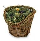 """""""Върбова кошница със сено"""" - Укрепва се лесно към клетката"""