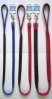Повод Миазоо от изкуствена лента - двоен, двуцветен - различни цветове и размери