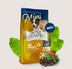 Храна за кучета от дребни породи Happy Dog с патешко, морска риба и благороден кестен - две разфасовки