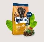 Храна за кучета Happy Dog с патешко, морска риба и благороден кестен - три разфасовки