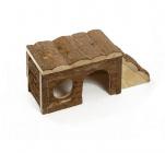 Дървена къщичка за дребни гризачи - морско свинче, чинчила, зайче, порче