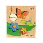 Креативен комплект Цветя и пеперуди, 27 части