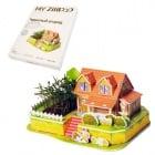 """3D пъзел """"Луксозна къща"""" с жива градина"""