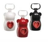 Dudù практичен държач за хигиенни торбички + 2 ролки хигиенни торбички, Heart Bags