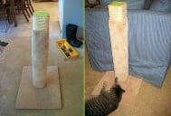 Как да направим удобно драскало за котката си само от подръчни средства?