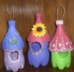 Как да си направим красива къщичка за птици от пластмасова бутилка?