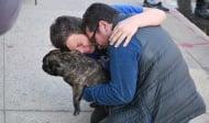 Куче оцеля след пожар и предизвика емоционална реакция от стопаните си