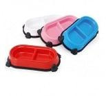 Двойна купа пластик с гумени крачета - различни размери и цветове