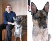 Незрящ стопанин спасява своето куче водач
