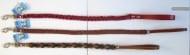 Повод Миазоо, плетен с шев - двуцветен