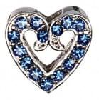 Декоративна форма на сърце с брилянти за поводи и нашийници, два цвята