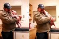 Трогателни кадри на кученце, което веднага разпознава своя спасител