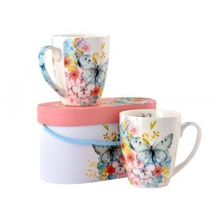 Комплект порцеланови чаши Butterfly - 2 бр.