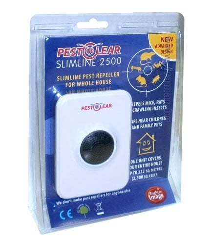 Електронен апарат с ултразвук за прогонване на гризачи и пълзящи насекоми, SLIMLINE 2500 / STOP - 232