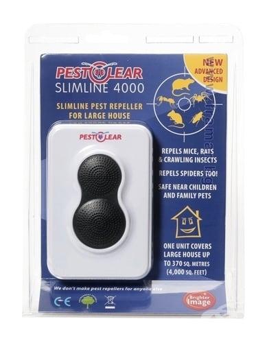 Комбиниран апарат (електрозвуков и електромагнитен) за прогонване на гризачи и насекоми, SLIMLINE 4000, СТОП 370 кв.м.