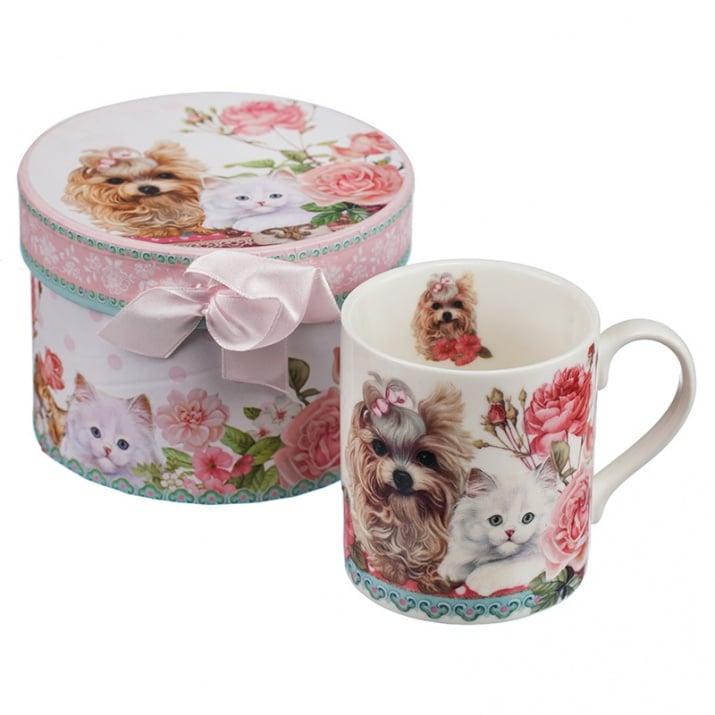 Чаша coffee + подаръчна кутия - Коте и куче, 280 мл.