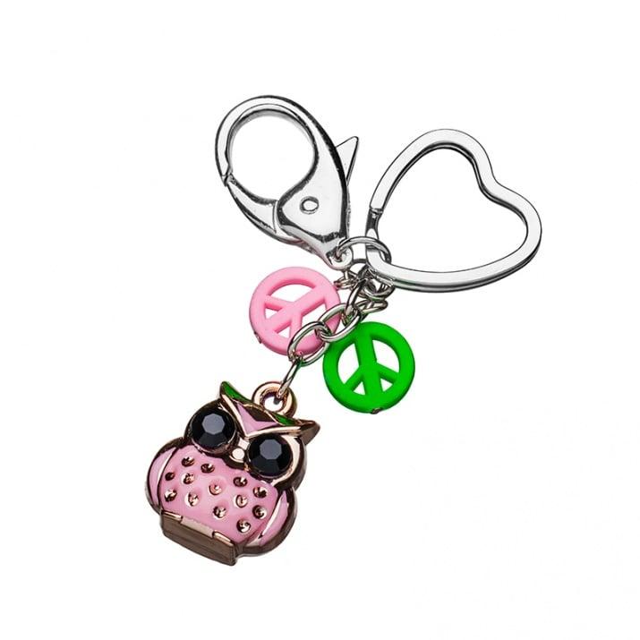 Ключодържател бухалче - розово