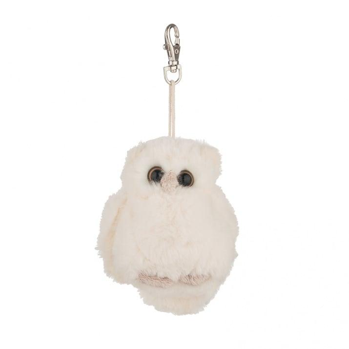 Бяло бухалче - плюшена играчка, 13 см.
