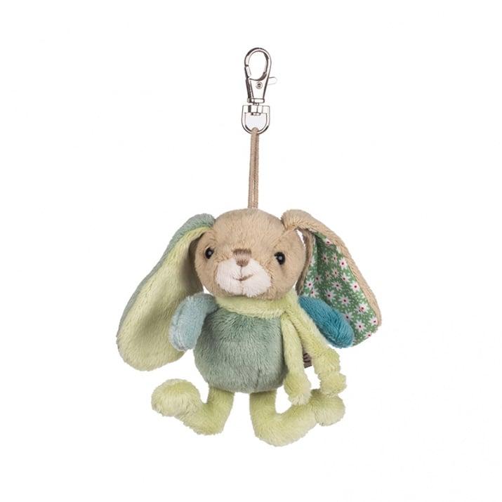 Плюшена играчка - синьо-зелен, заек 10 см.