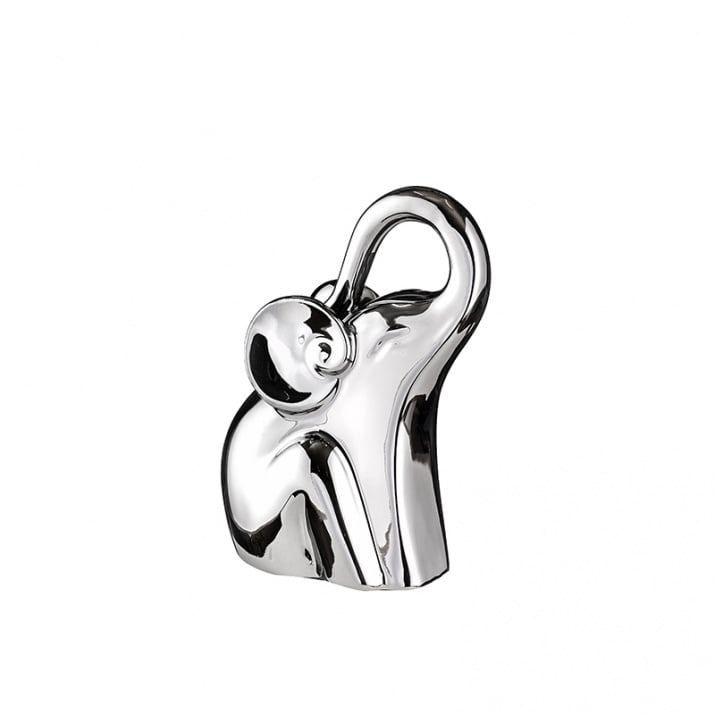 Керамична сребърна фигура слон - символ на сила и мъдрост