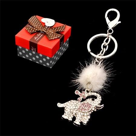Стилен дамски ключодържател слонче + луксозна кутия
