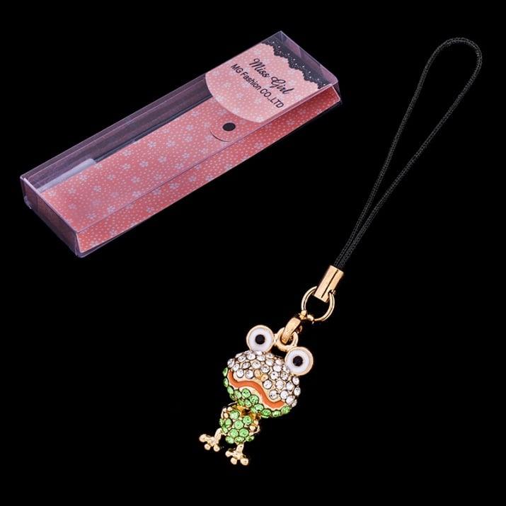 Верижка за GSM - жаба, 10 см + малка кутийка