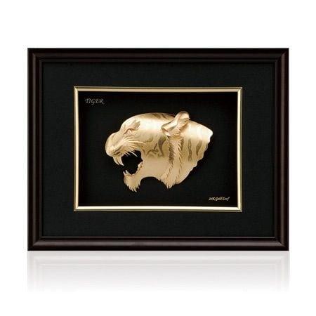 Златна картина - репродукция тигър
