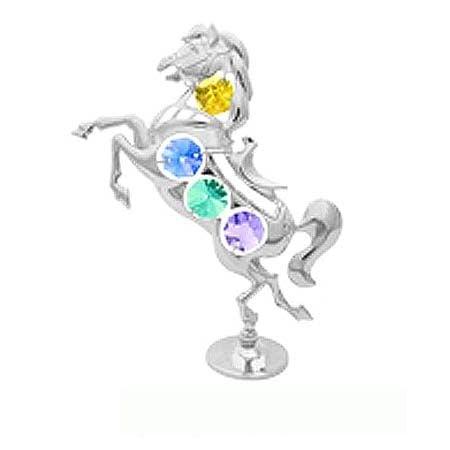 Фигурка кон с компоненти Swarovski, злато