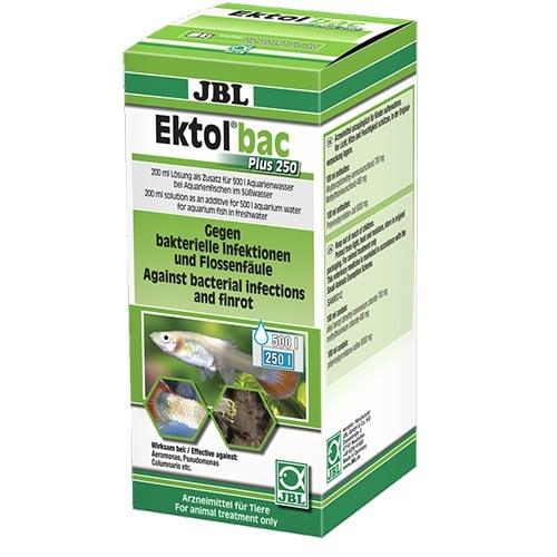 JBL Ektol bac Plus 250 – 200мл – Препарат срещу бактериални инфекции, причинени от Aeromonas, Pseudomonas, Columnaris и др.