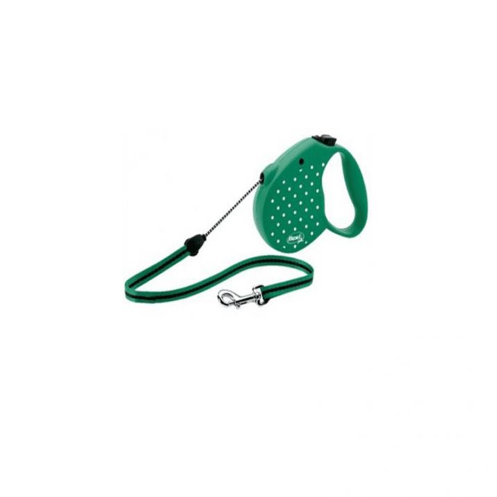 Flexi Dots Medium /автоматичен повод за кучета до 20кг въже 5м/ - синьо и зелено