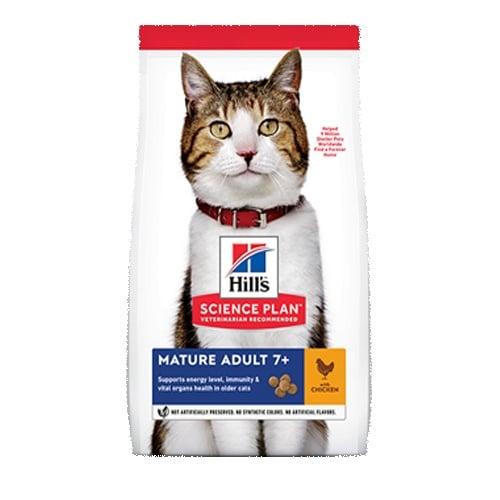 Hill's Science Plan Mature Adult с пиле - Холистична суха храна специално за котки над 7-годишна възраст - 1.500kg; 10.00kg