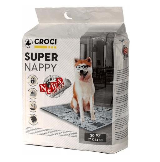 Хигиенни подложки за кучета Croci Super Nappy Newspaper, 57x84см, 30бр