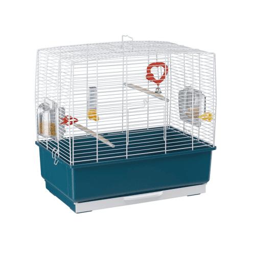 КЛЕТКА ЗА ПТИЦИ /49Х30Х48,5СМ- Подходяща за канари, екзотични и други малки птици. Оборудвана