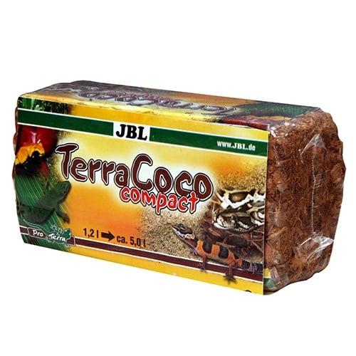 JBL TerraCoco Compact 450гр - естествена постелка за терариуми от натрошени кокосови влакна.