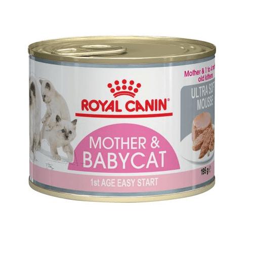 Royal Canin Mother & Babycat Instinctive Mousse - храна за котета през първата фаза на растеж (до 4 месеца) 195гр