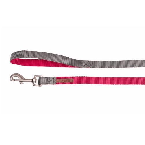 Повод за куче DOUBLEPREMIUM PINK/GREY, различни размери