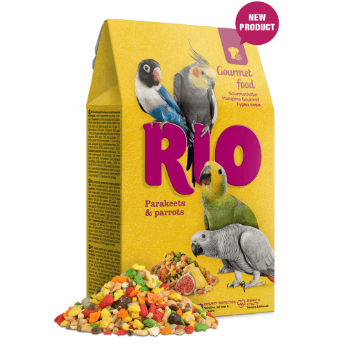 Храна за средни и големи папагали, Rio, 250g