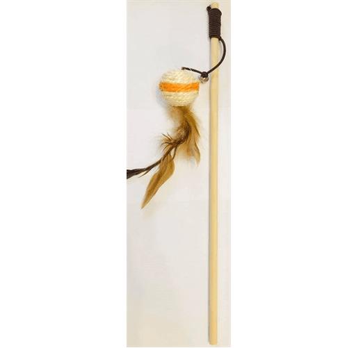 Играчка за коте въдица - 40см с топче