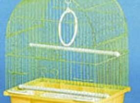 Клетка за вълнисти папагали -объл покрив