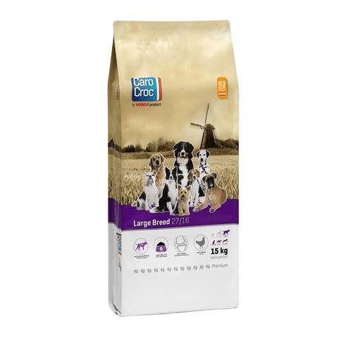 CAROCROC LARGE BREED 27/16 -  Пълноценна храна за  кучета от едри породи над 30 кг. с умерено натоварване - 15.00кг