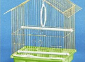 Клетка за вълнисти папагали -остър покрив