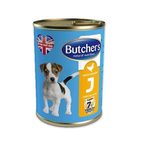 Храна за кученца до 6-месечна възраст Butchers Life Junior - БЕЗ глутен, различни вкусове, 400 гр.