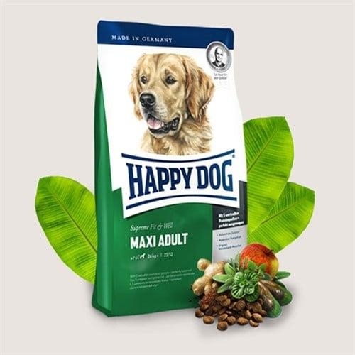 Happy Dog Adult Maxi  Храна за едри породи кучета /над 26кг/ над 1 година - три разфасовки